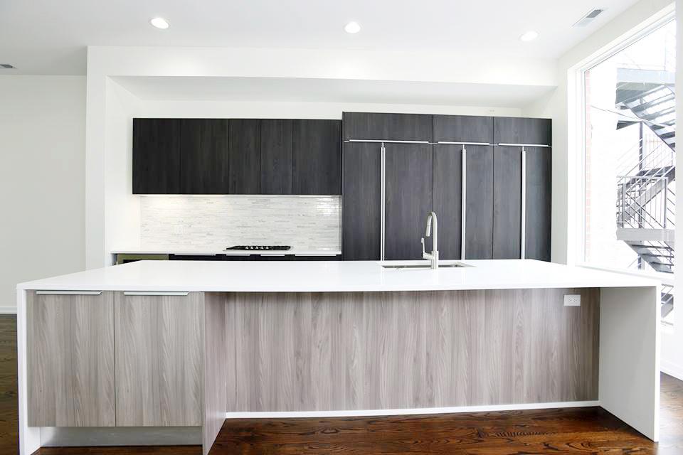 Wicker park duplex kitchen rennovation and design image.
